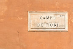 Campo de Fiori Photo stock