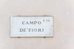 Campo DE Fiori Royalty-vrije Stock Afbeeldingen