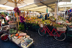 Campo DE ` Fiori markt, Rome Royalty-vrije Stock Afbeeldingen
