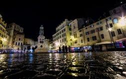 Campo De Fiori przy nocą Obraz Royalty Free