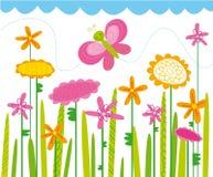 Campo de flor Imagem de Stock