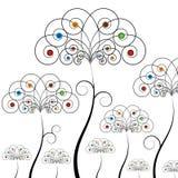Campo de flor do redemoinho de Absract Fotografia de Stock Royalty Free