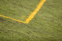 Campo de Footbal Imagen de archivo libre de regalías