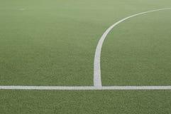 Campo de Footbal y línea blanca Fotografía de archivo