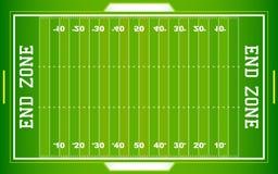 Campo de fútbol del NFL Imagen de archivo libre de regalías