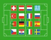 Campo de futebol Ilustração Stock