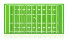 Campo de futebol americano Fotos de Stock
