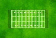 Campo de futebol americano Fotos de Stock Royalty Free