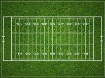 Campo de futebol americano Imagens de Stock Royalty Free