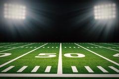 Campo de futebol americano imagem de stock royalty free