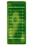 Campo de futebol americano coberto pela grama realística ilustração do vetor