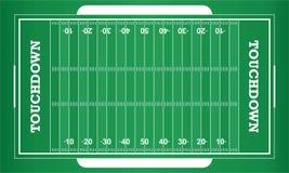Campo de futebol americano do vetor ilustração royalty free