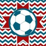 Campo de futebol com esfera Fotografia de Stock