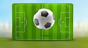 Campo de futebol 3d-illustration da bola de futebol ilustração royalty free