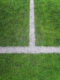 Campo de futebol da atividade secundárioa, campo de futebol artificial da grama da marca do giz da atividade secundárioa imagem de stock