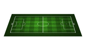 Campo de futebol da perspectiva Fotografia de Stock