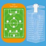Campo de futebol editável com espaço para o texto Fotografia de Stock