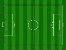 Campo de futebol ilustrado Imagens de Stock Royalty Free