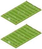 Campo de futebol isométrico Foto de Stock Royalty Free