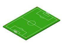 campo de futebol isométrico do futebol 3D Imagens de Stock Royalty Free