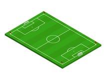 campo de futebol isométrico do futebol 3D Foto de Stock Royalty Free
