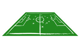 Campo de futebol na perspectiva Treinamento Fotos de Stock