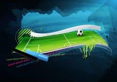Campo de futebol pintado Imagens de Stock