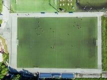 Campo de futebol sem fãs Imagens de Stock Royalty Free