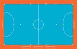 Campo de Futsal Foto de archivo libre de regalías
