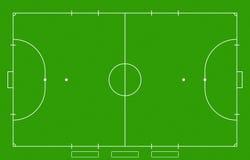 Campo de Futsal Imágenes de archivo libres de regalías