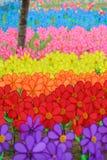 Campo de girândolas coloridos imagens de stock royalty free