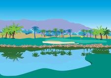 Campo de golf stock de ilustración