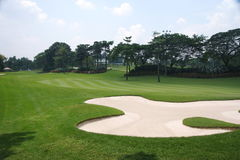 Campo de golf Imagen de archivo libre de regalías