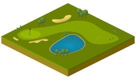 Campo de golf Fotografía de archivo
