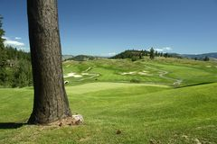 Campo de golf Foto de archivo libre de regalías