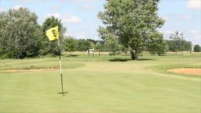 Campo de golf almacen de metraje de vídeo