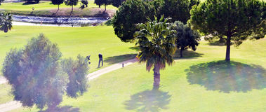 Campo de golf fotografia royalty free