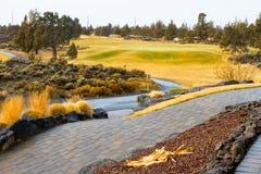 Campo de golf central de Oregon fotografía de archivo