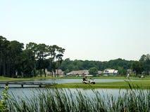 Campo de golf costero Foto de archivo libre de regalías