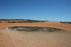 Campo de golf de Australia del desierto Fotos de archivo libres de regalías
