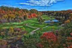 Campo de golf de la caída Fotos de archivo libres de regalías