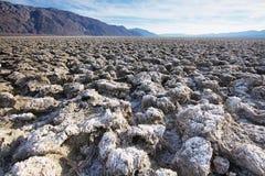Campo de golf de los diablos en Death Valley fotos de archivo libres de regalías