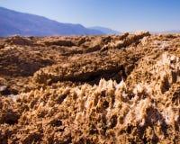 Campo de golf Death Valley de los diablos Imagen de archivo libre de regalías