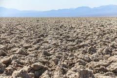 Campo de golf Death Valley del ` s del diablo Foto de archivo