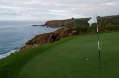 Campo de golf del día de fiesta del océano de la playa Foto de archivo
