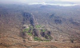 Campo de golf del desierto Foto de archivo libre de regalías