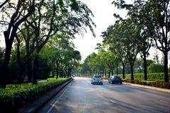Campo de golf del norte del parque en Laksi, Bangkok, Tailandia imagen de archivo