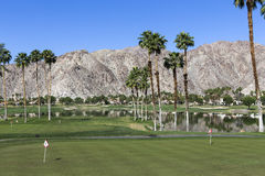 Campo de golf del oeste de Pga, Palm Springs, California Imagenes de archivo