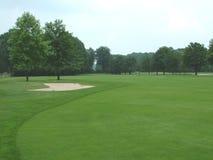 Campo de golf del país Fotos de archivo libres de regalías