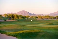 Campo de golf en el desierto de Arizona Foto de archivo